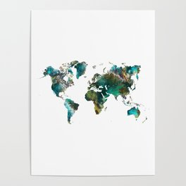 Map of the World tree #map #world Poster