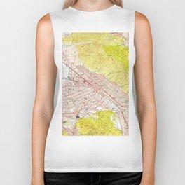 Vintage Map of Burbank California (1953) Biker Tank