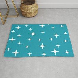 Mid Century Modern Star Pattern 443 Turquoise Rug