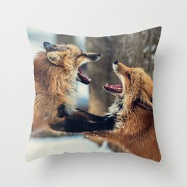 Ultimate Foxing Championship Throw Pillow