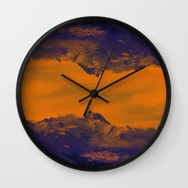 Mystic mountains Wall Clock