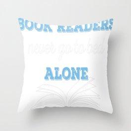 Book Reader Throw Pillow