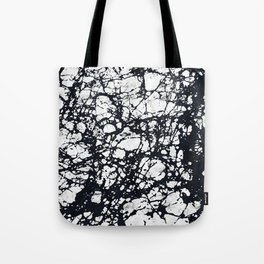 Messy Marbled Black Lines Tote Bag