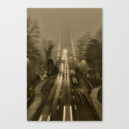 Lions Gate in the Fog 02 Canvas Print