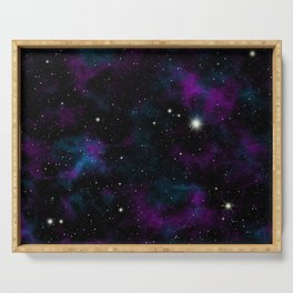 Blue and Purple Galaxy Serving Tray