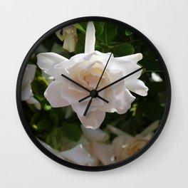 Florida Gardenia Wall Clock