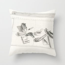Things on the table Throw Pillow