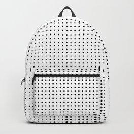 Rhythm of black dots on white background Backpack