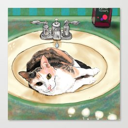 Catrina in the Sink Canvas Print
