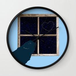 Stargazing Pug Wall Clock