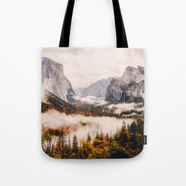 Amazing Yosemite California Forest Waterfall Canyon Tote Bag