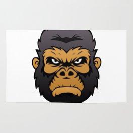 Gorilla Head Cartoon. Rug