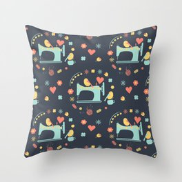 Love sewing Throw Pillow