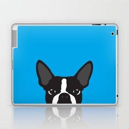 Boston Terrier Blue Laptop & iPad Skin