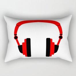 Pair Of Headphones Rectangular Pillow