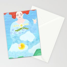 Chubby girl's dream Stationery Cards