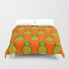 Tropical Pineapple Pattern Duvet Cover