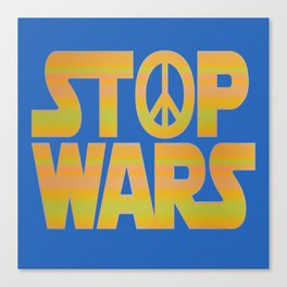 Stop Wars Peace Poster Canvas Print