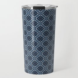 Camellia Tile Pattern Travel Mug