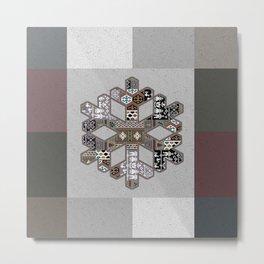 Ice Crystal Metal Print