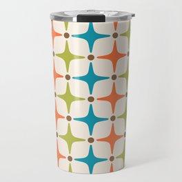 Mid Century Modern Star Pattern 821 Travel Mug