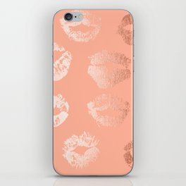 Sweet Life Lips Peach Coral Pink Shimmer iPhone Skin