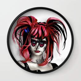 A Real Butterfly Girl Wall Clock