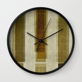 """Burlap Texture Greenery Columns"" Wall Clock"
