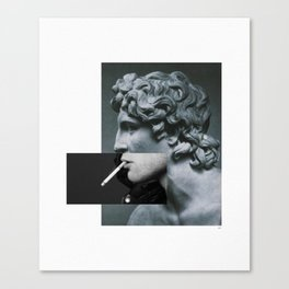 A classic cigarette. Canvas Print