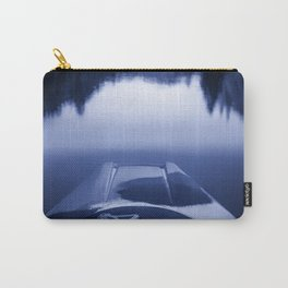 Smooth Sailing kayaking monochrome reflections Carry-All Pouch