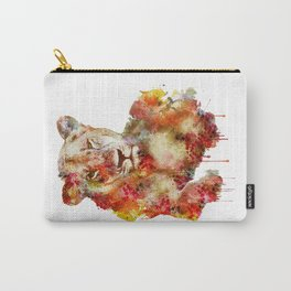 Resting Lioness Watercolor Painting Carry-All Pouch