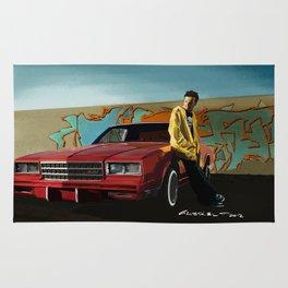 Aaron Paul as Jesse Pinkman & Chevy Montecarlo @ TV serie Breaking Bad Rug