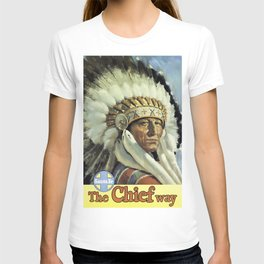 Vintage American Travel Poster - SANTA FE, THE CHIEF WAY T-shirt
