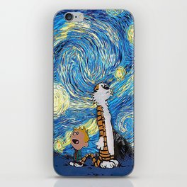Calvin Hobbes Starry Night iPhone Skin