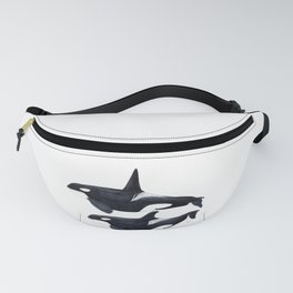 Orca male and female Fanny Pack