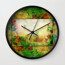 Ginkelmier Land ~ Watercolor Fairy Garden Wall Clock