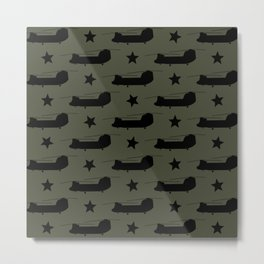 CH-47 Chinook Pattern Metal Print