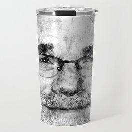 PHILIP SEYMOUR HOFFMAN (BLACK & WHITE VERSION) Travel Mug