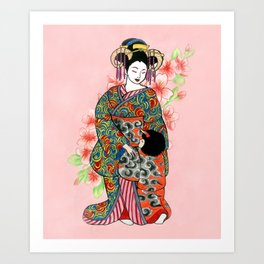 Mother and child I Art Print