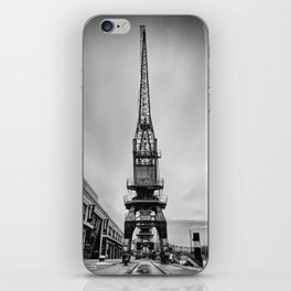 Dockyard crane mono iPhone Skin