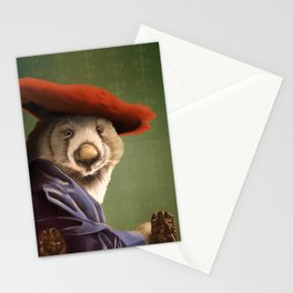 Wombat with a Red Hat Stationery Cards