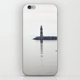 light house in bodrum iPhone Skin