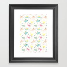 Dinosaur Pattern Framed Art Print