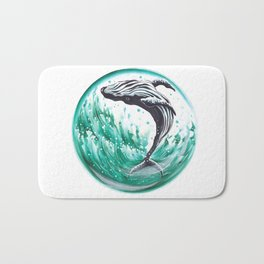 Whale in the bubble Bath Mat