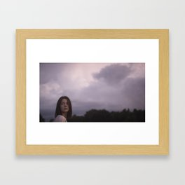 ♘ purple sky ♘ Framed Art Print