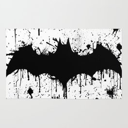 Bat Man Splatter Rug