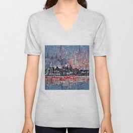 philadelphia city skyline Unisex V-Neck
