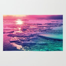 Pastel Sunset Waters Rug