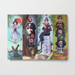 Disneyland Haunted Mansion Stretching Room Portraits Metal Print