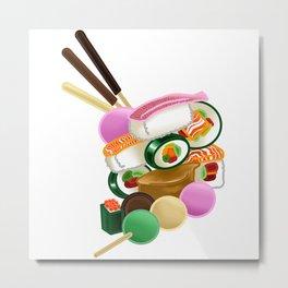 Sushi and Sweets - Full design Metal Print